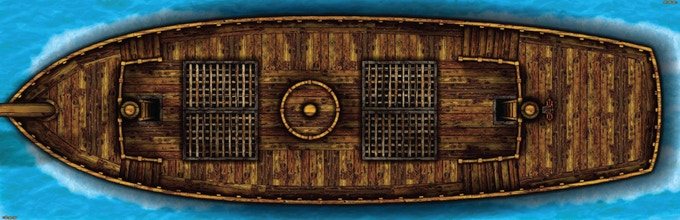 Arcknight Ship - Upper Decks (34x11)