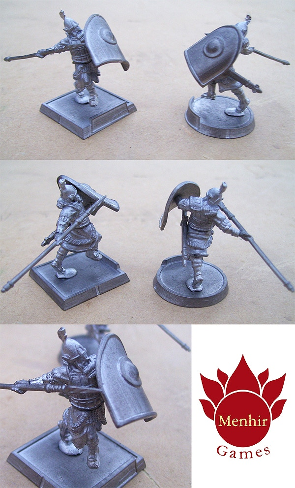 This is a photo of the final pewter Akkiri Elf Champion and bases.