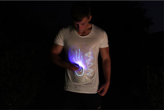 Glow Rob By Shirts Illuminated Apparel Interactive T Manley 92EDHI