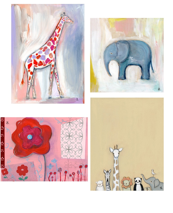 """original acrylic paintings {sizes between 8"""" and 12""""} for """"The Ei"""" reward"""