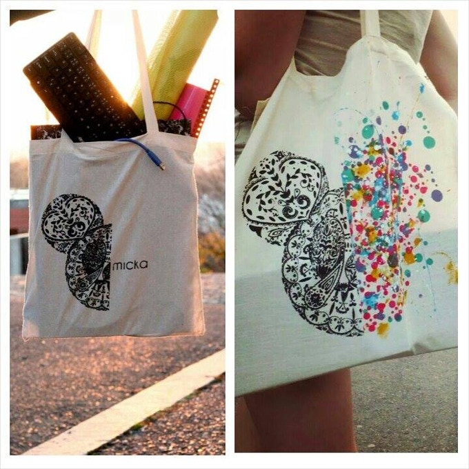 2 Options of Micka Tote bags