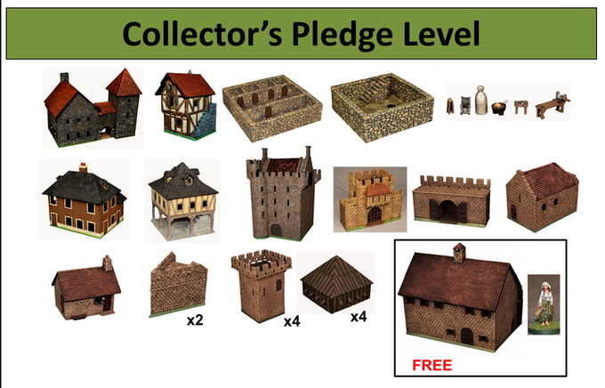 Collector's level with free Great Hall and unpainted Dairy Maid figure.