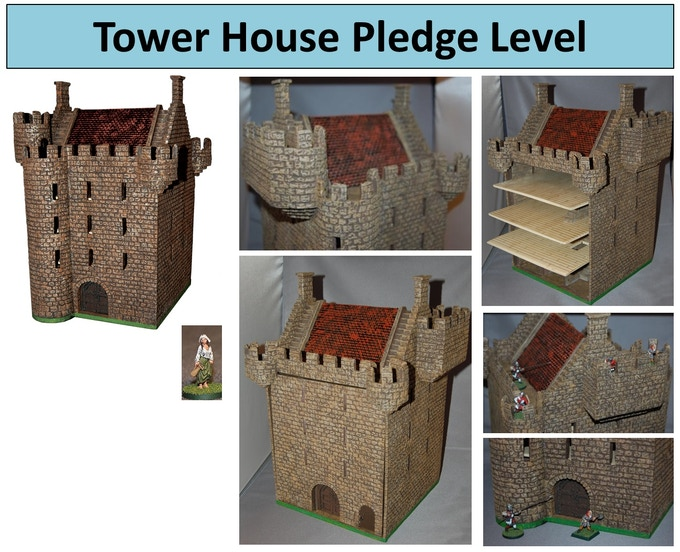 Tower House has removable back and floors that slide out.