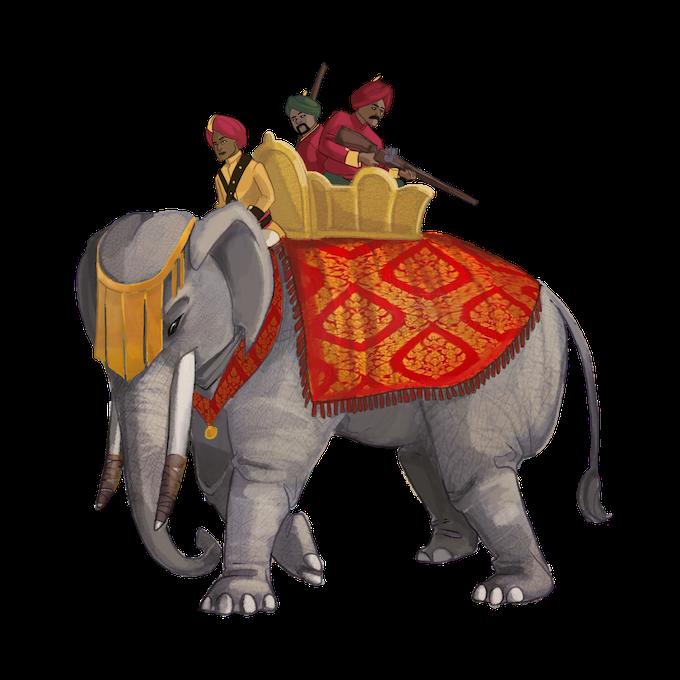 Elephant Cavalry by Cami Woodruff