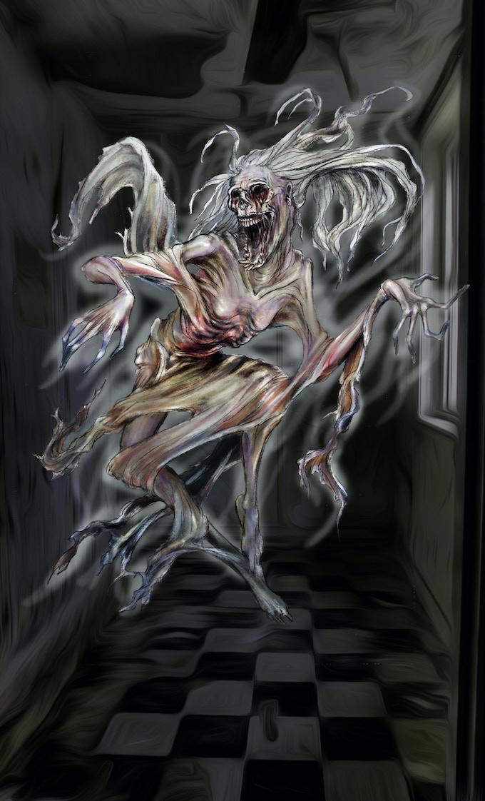 La Llorona (Monster design and illustration by Morgan O. Shay)