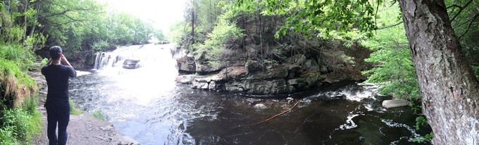 Just scouting some falls.
