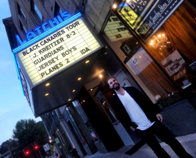 Kreitzer receives hometown marquee top billing at the Latchis Theatre in Brattleboro, VT