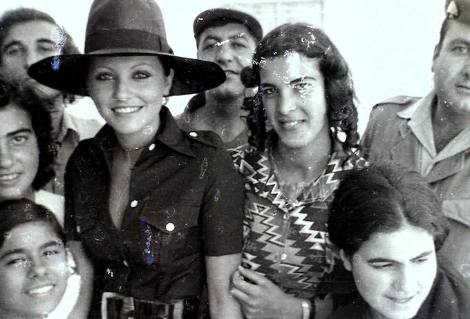 'MIss Universe 1971, Georgina Rizk visiting Baalbeck, by Diab Alkarssifi, 1977', A Lebanese Archive, Ania Dabrowska, 2014