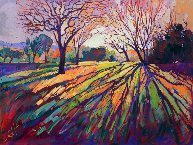 """This is """"Crystal Light"""", the image on the cover of the book. The painting is of Paso Robles, which holds a special place in my heart as the first location to inspire me and leave me breathless within the wondrous world of California Wine Country."""