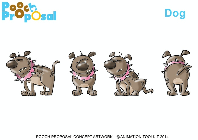 Dog Character Design by Les Eavel