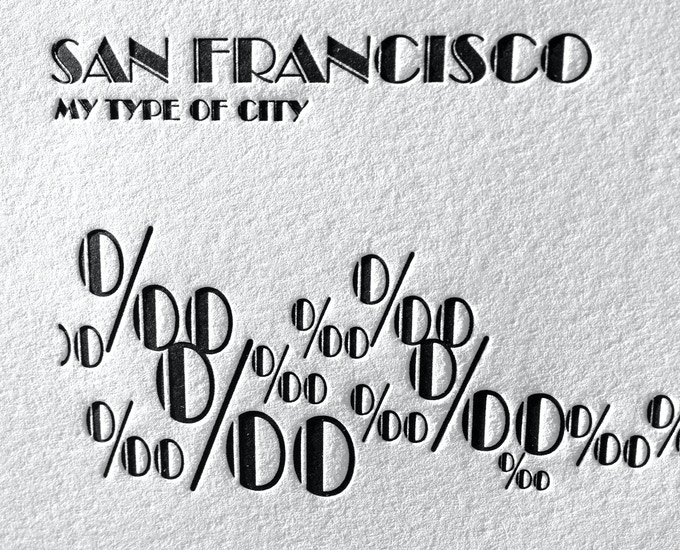 Detail of SF GG Bridge and the infamous fog rolling in represented by per mille symbols.
