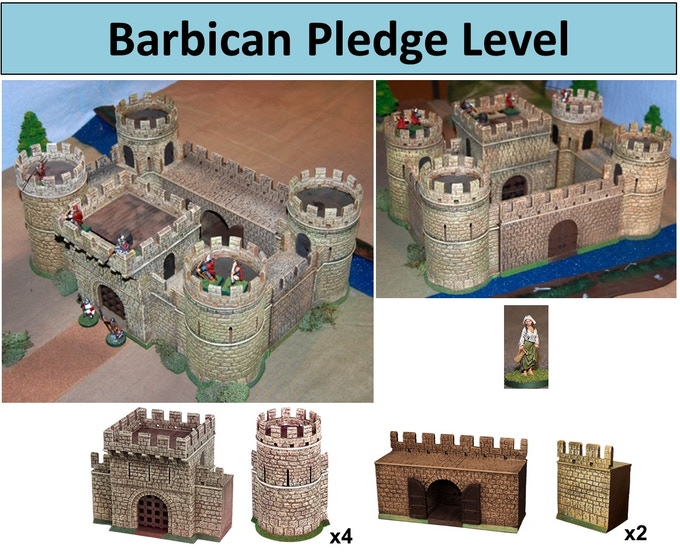 Barbican level with free Dairy Maid figure.