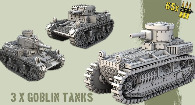 3 x different tanks