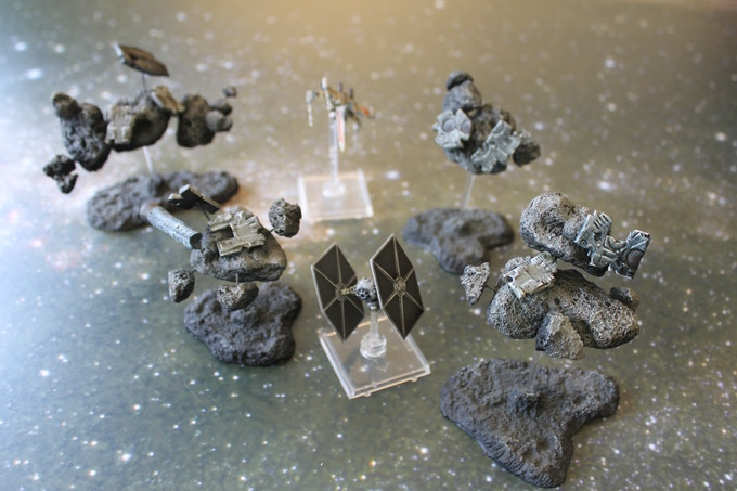 Debris Field A (Ships shown for scale and not included)
