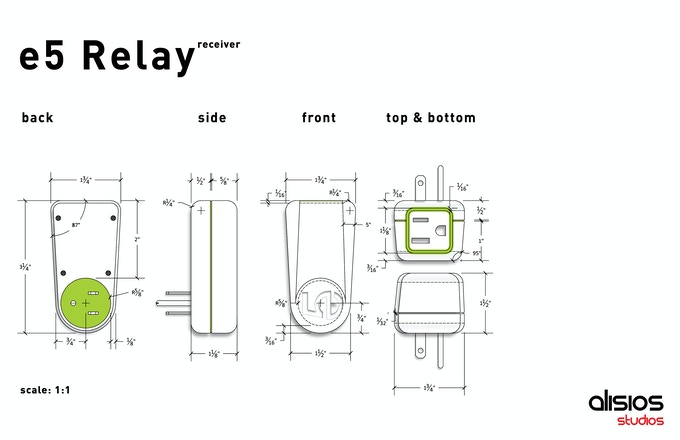 Designer's layout of the e5 Relay Receiver