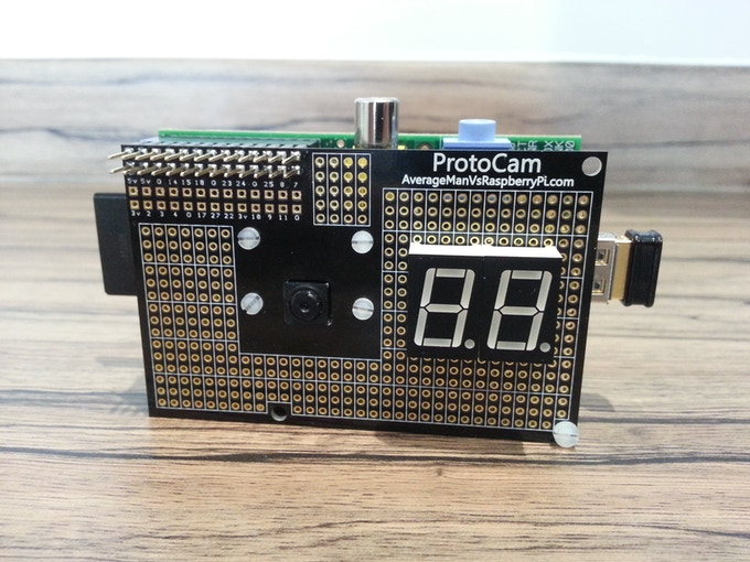 Add seven-segment displays as a countdown timer for your shots!