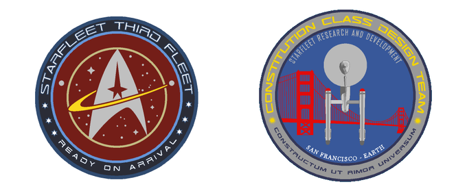 3rd Fleet Patch and Constitution Class Patches