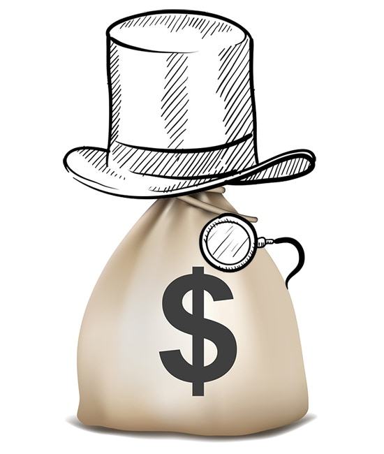 You'll rock a top hat, monocle and a money bag at the premiere... and at home and public, if you want. We won't judge.