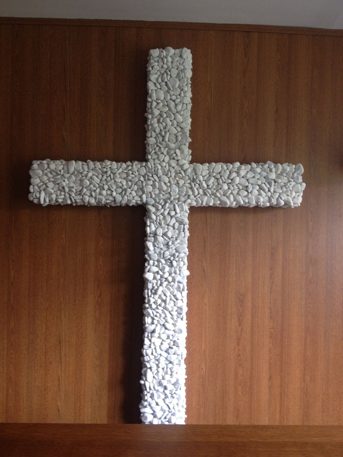 Cross from Pebbles (Example of my art).