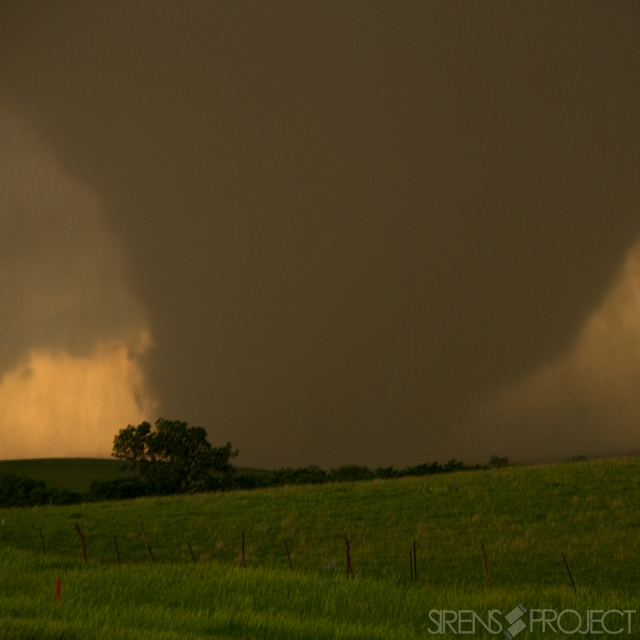 Still shot of the perfect intercept opportunity. (5/28/2013 Bennington, KS)