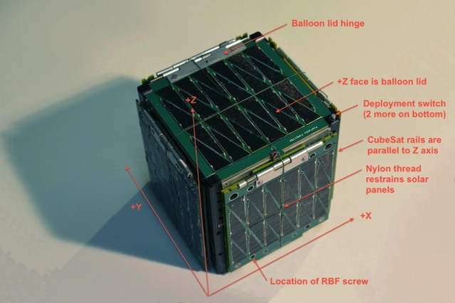 SkyCube in packed configuration.