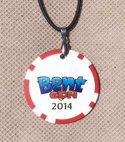 Our Bent-Con Poker Chip Necklace!