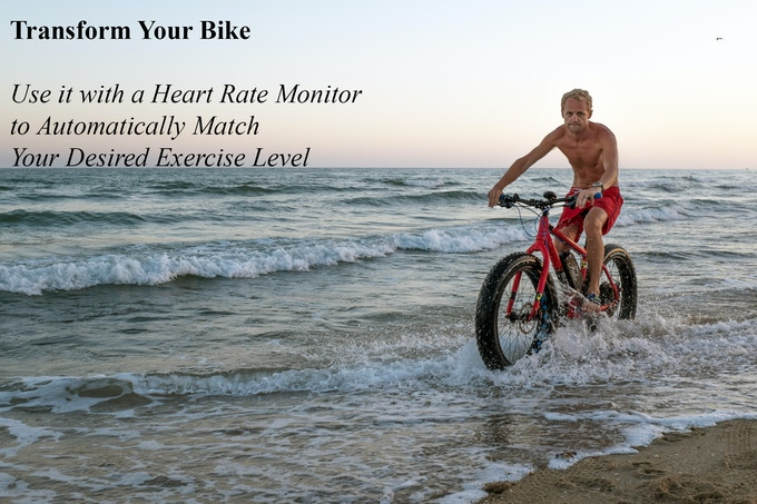 Transform your bike and use it with a heart rate monitor to automatically match your desired exercise level