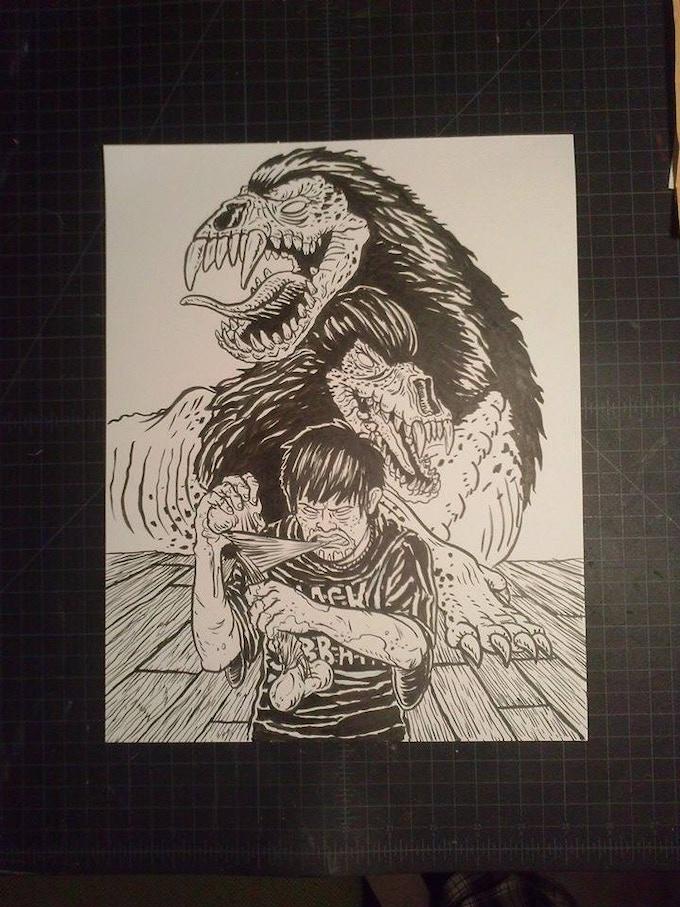 ORIGINAL ART BY JB ROE ADDED!