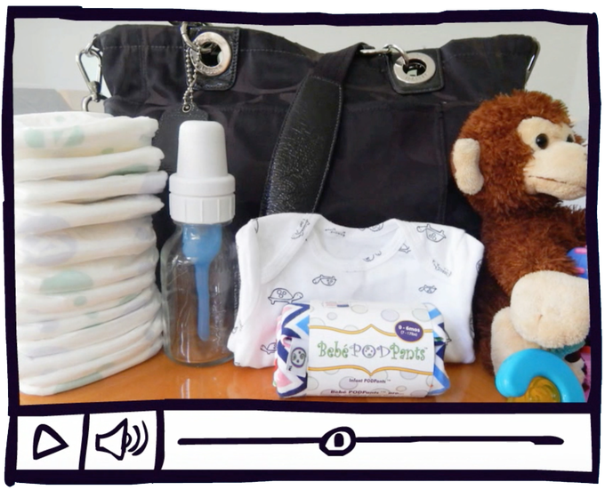 Bebé PODPants is a MUST-HAVE diaper bag addition, when traveling with baby.