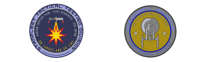 Starfleet Tactical and Memory Alpha patches.