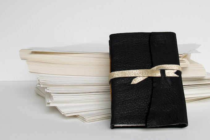 $30 Prize: A handbound 48pg Soft Cover Wrap Journal! You can customize the color!