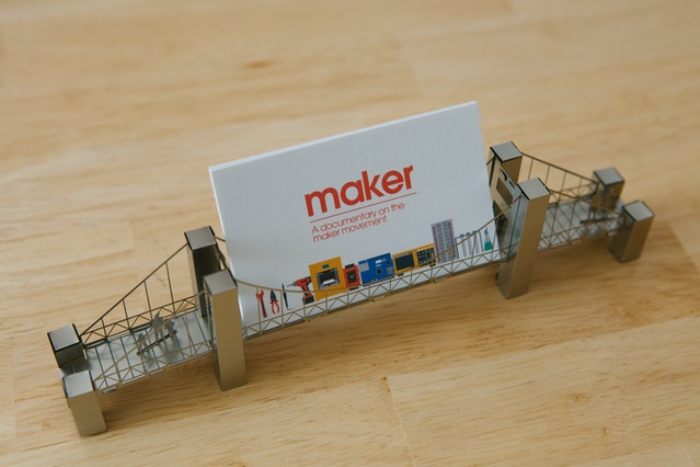 Maker a documentary on the maker movement by muris for Charity motors bridge card