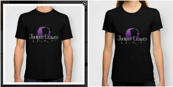 Juniper Leaves shirt design by Aspen Aten