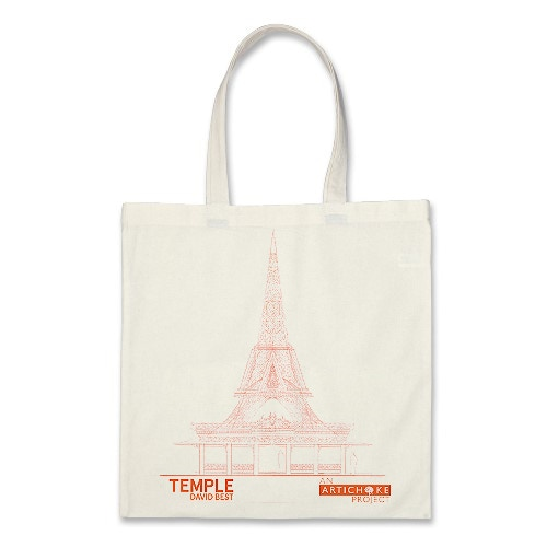 Temple tote bag featuring one of David's design of Temple.