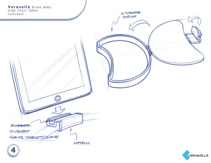 Tablet attachment and storage idea