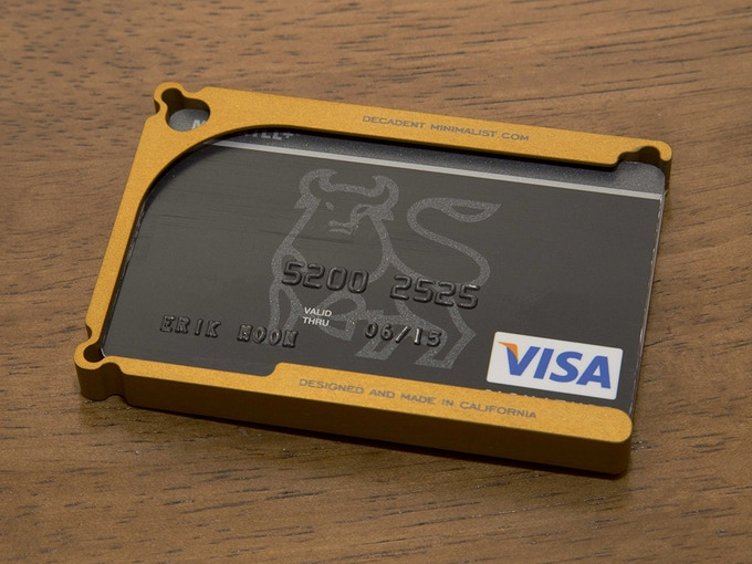 Bold Gold: Barely larger than a stack of 8 credit cards