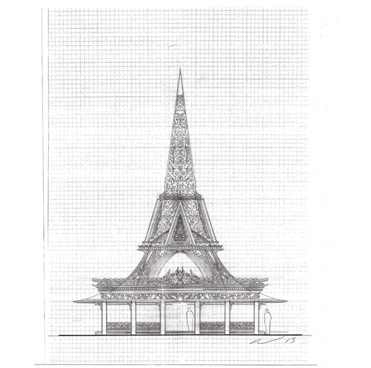 David Best's initial designs for Temple.