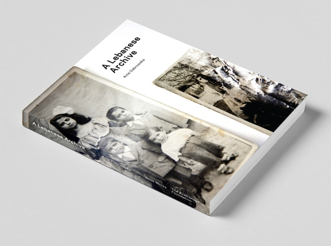 Draft cover design for A Lebanese Archive