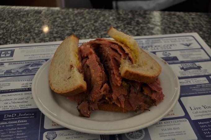 Snowdon Deli Smoked Meat Sandwich