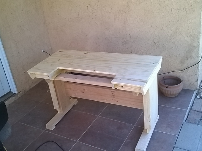 The first desk before finishing