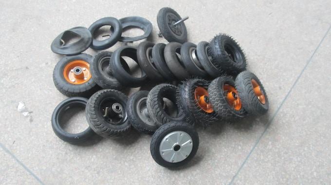 Various tires we broke:)