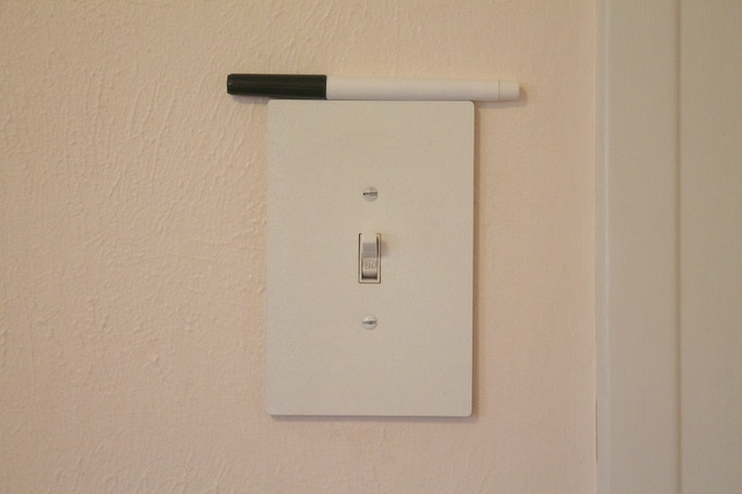 For a single, toggle switch ($12) - 14.6 cm. by 9.6 cm.