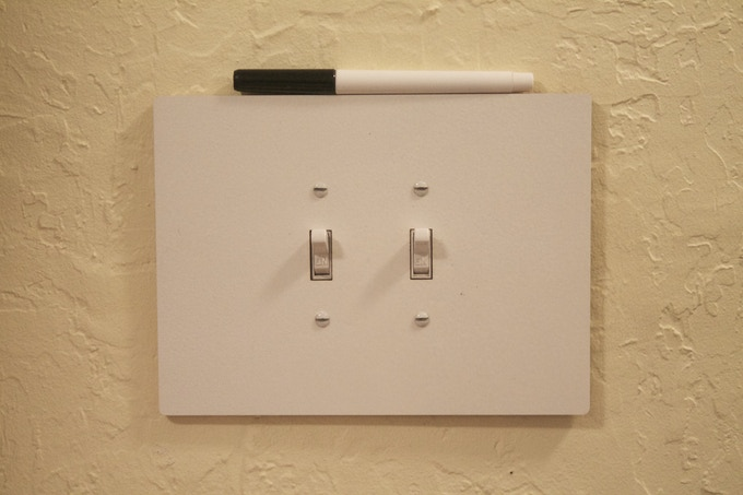 For a double, toggle switch ($14) - 14.6 cm. by 19.0 cm.