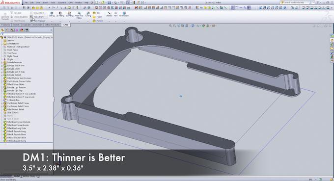 DM1: CAD Modeled in SolidWorks