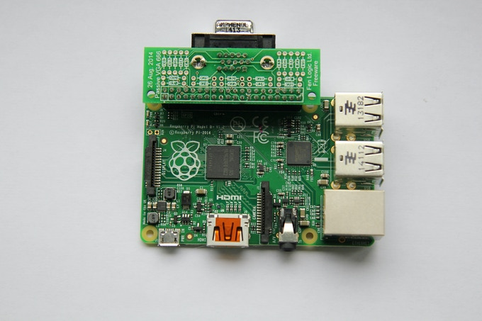 Gert VGA 666 Attached to Raspberry Pi B+ (photo courtesy of RasPi Foundation Blog)