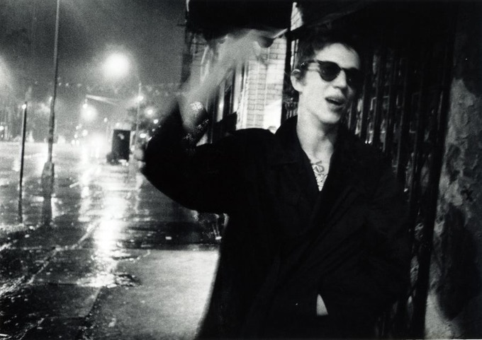 "Richard Hell, Bowery Rain 1977 - Available as 8""x10"" Silver Print w/Slipcase Edition"