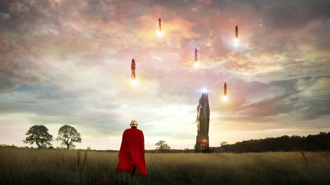 Rocketships replace planes in the world of The Minister