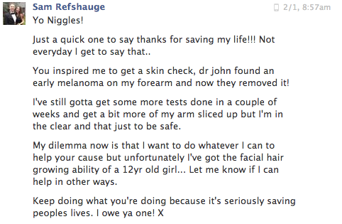 We receive messages like this weekly. Keeps us doing what we're doing. Truly humbling.