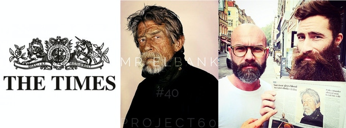 Commander of the British Empire, John Hurt, and his portrait for #Project60 in The Times.