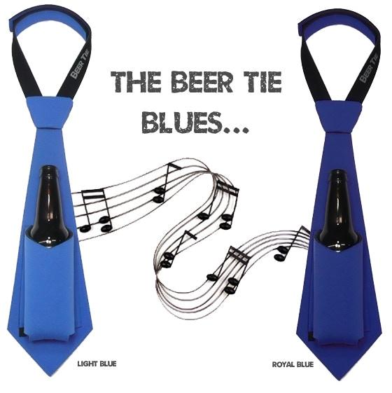 THE BEER TIE: Neoprene Necktie that Holds your Beer by